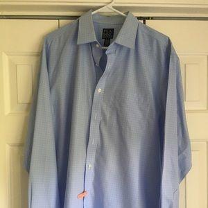 Jos A Banks Blue Dress Shirt